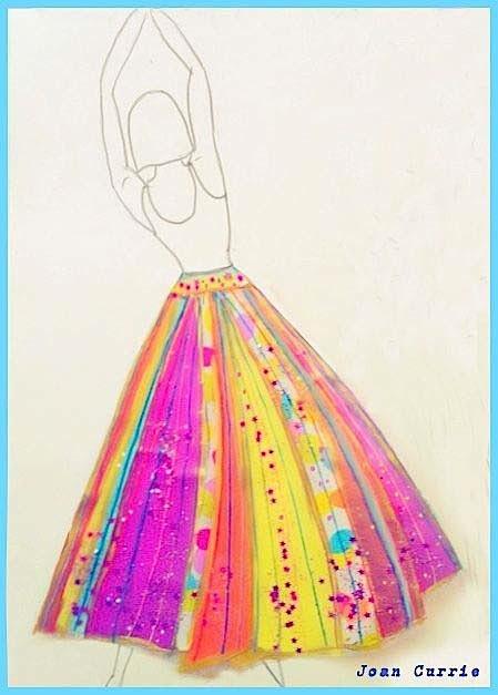© Joan Currie - Figure sketch by Lauren DiMarco & Skirt by Joan Currie